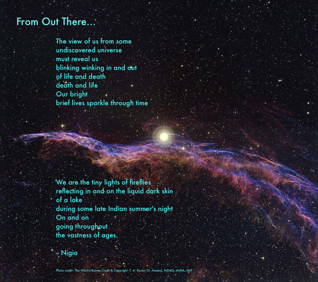 A short poem on death, space, and time.